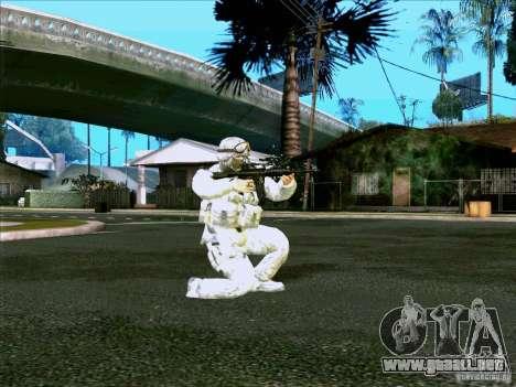 Camuflaje electrónico Morpeh para GTA San Andreas segunda pantalla