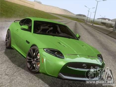 Jaguar XKR-S 2011 V2.0 para las ruedas de GTA San Andreas