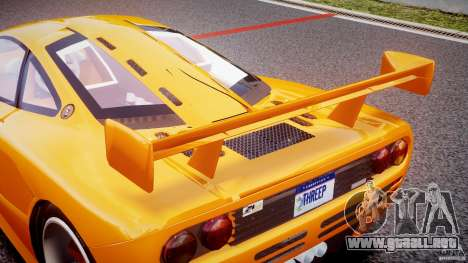 Mc Laren F1 LM v1.0 para GTA 4 vista desde abajo