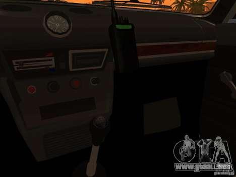 2106 VAZ policía v 2.0 para GTA San Andreas interior