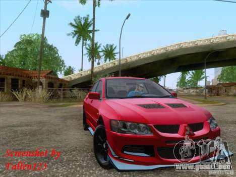 Mitsubishi Lancer Evolution VIII Varis para GTA San Andreas left