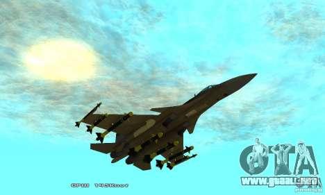 Su-37 Terminator para vista inferior GTA San Andreas