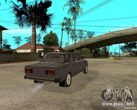 VAZ 2105 Limousine para GTA San Andreas vista posterior izquierda