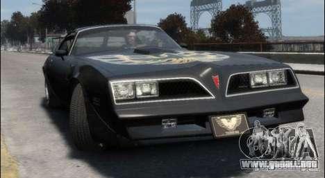 Pontiac Trans Am 1977 para GTA 4 left