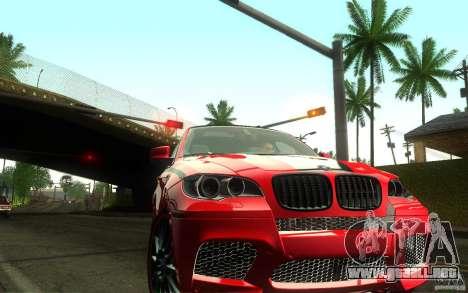 Bmw X6 M Lumma Tuning para GTA San Andreas vista hacia atrás