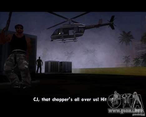 GTA IV Police Helicopter para la visión correcta GTA San Andreas