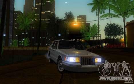 Lincoln Towncar 1991 para visión interna GTA San Andreas