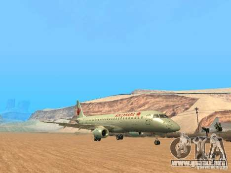 Embraer ERJ 190 Air Canada para GTA San Andreas vista posterior izquierda