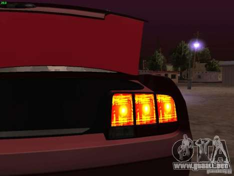 Ford Mustang GT 2005 Tuned para GTA San Andreas interior