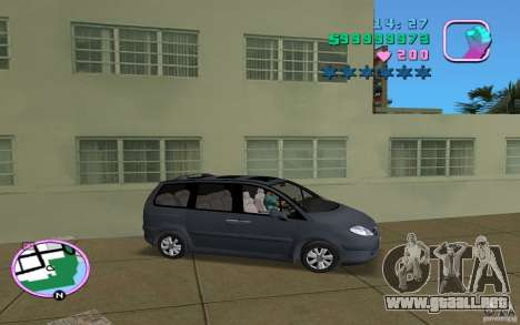 Citroen C8 para GTA Vice City visión correcta