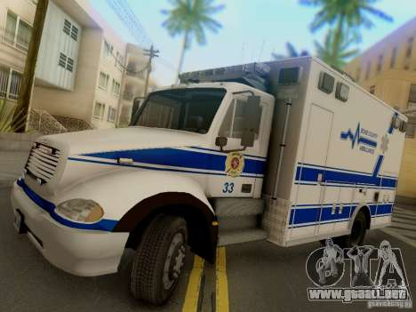 Freightliner Bone County Police Fire Medical para GTA San Andreas