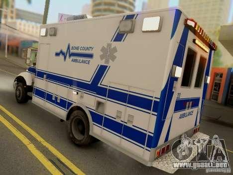 Freightliner Bone County Police Fire Medical para la visión correcta GTA San Andreas