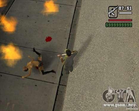 Real Ragdoll Mod Update 2011.09.15 para GTA San Andreas segunda pantalla