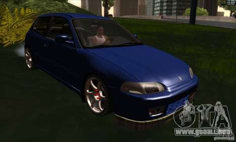 Honda Civic EG5 para GTA San Andreas vista hacia atrás