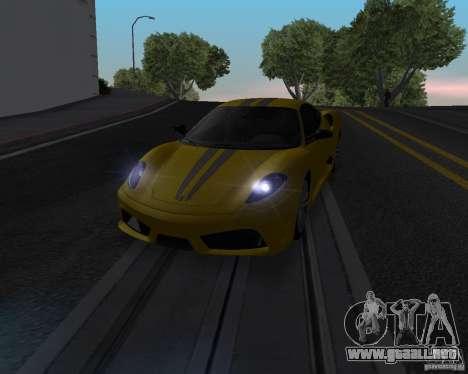Ferrari F430 Scuderia 2007 para visión interna GTA San Andreas