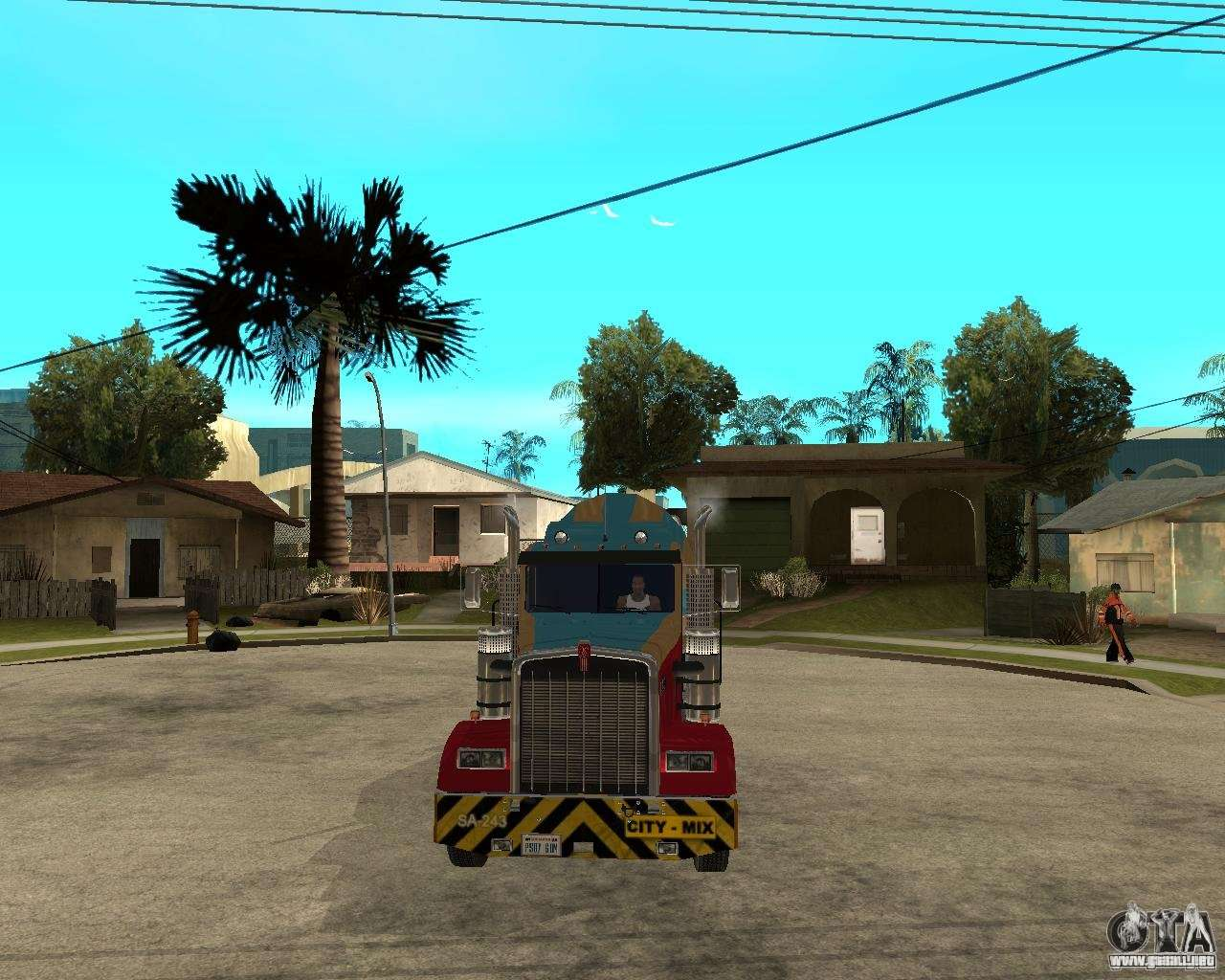 Kenworth W900 CEMENT TRUCK para GTA San Andreas vista hacia atrás