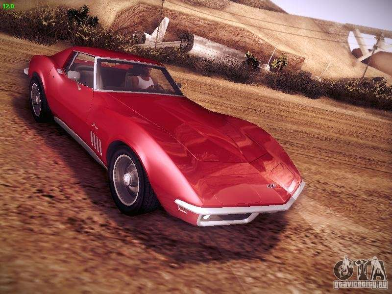 Chevrolet Corvette Stingray 1968 Para Gta San Andreas
