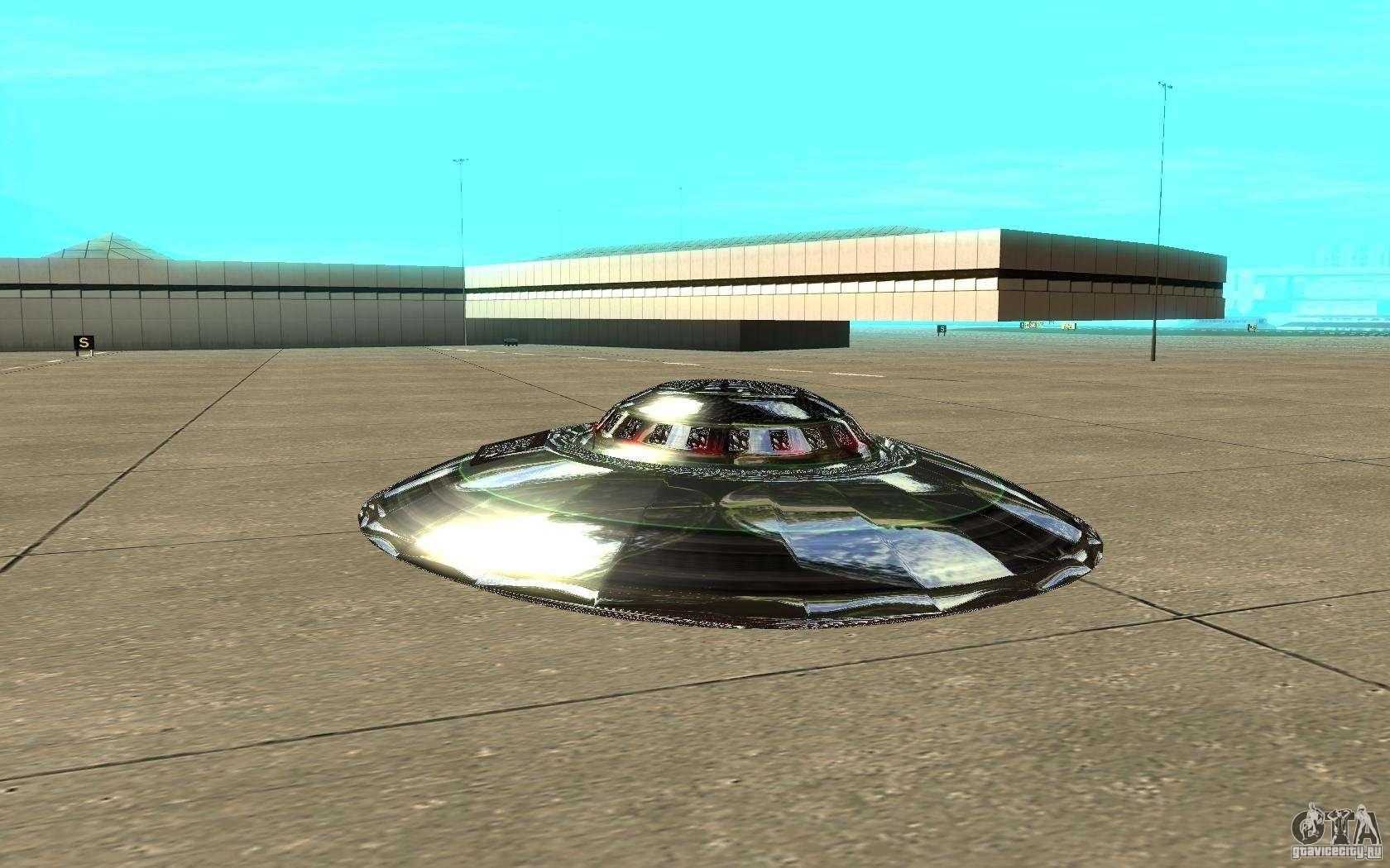Real ufo para gta san andreas vista posterior izquierda