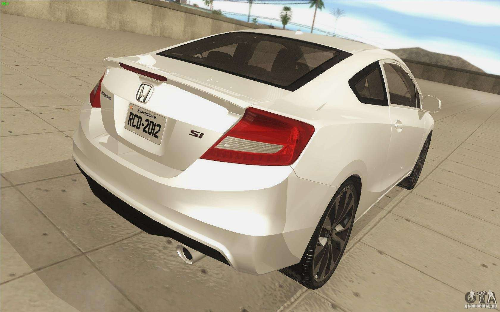 Honda Civic SI 2012 Para La Vista Superior GTA San Andreas