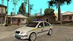 Skoda Octavia II policía ucraniano para GTA San Andreas