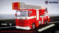 Scania R580 Fire ladder PK106 [ELS]
