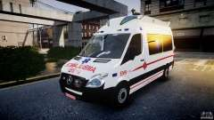 Mercedes-Benz Sprinter Iranian Ambulance [ELS] para GTA 4