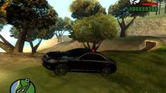 Mercedes-Benz S500 con luces intermitentes para GTA San Andreas
