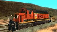 Locomotora SD 40 Unión Pacífico BNSF para GTA San Andreas