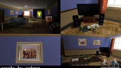 La nueva sala en la casa de CJ para GTA San Andreas