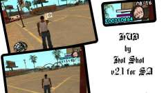 HUD by Hot Shot v2.1 para GTA San Andreas