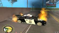 Coche en llamas en el GTA 4