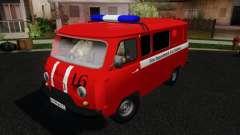 UAZ 3909 fuego para GTA San Andreas