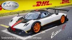 Pagani Zonda R 2009 Italian Stripes para GTA 4