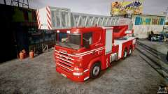 Scania Fire Ladder v1.1 Emerglights red [ELS]