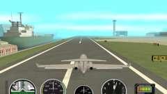 Instrumentos de aire en un avión