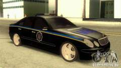 MERCEDES BENZ E500 w211 SE policía Ucrania para GTA San Andreas