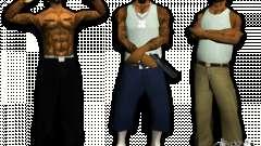 Bandas de pieles HQ para GTA San Andreas