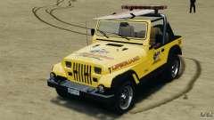Jeep Wrangler 1988 Beach Patrol v1.1 [ELS] para GTA 4