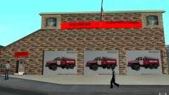 Parque de bomberos ruso en San Fierro para GTA San Andreas