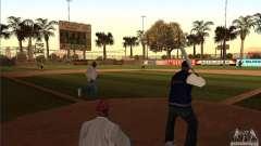 Campo de béisbol animado