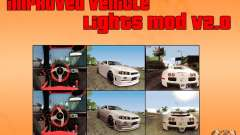 Improved Vehicle Lights Mod v2.0 para GTA San Andreas