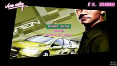 2 Fast 2 Furious Menu Brian para GTA Vice City