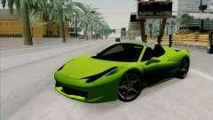Ferrari 458 Spider para GTA San Andreas