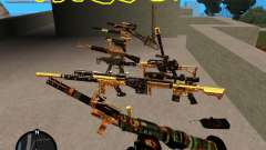 Smalls Chrome Gold Guns Pack para GTA San Andreas