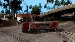 Trailer de Lukoil para Mercedes-Benz Actros para GTA San Andreas