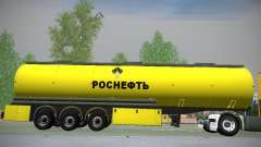 Trailer de Mercedes-Benz Actros Rosneft para GTA San Andreas