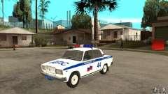 VAZ 2107 policía para GTA San Andreas