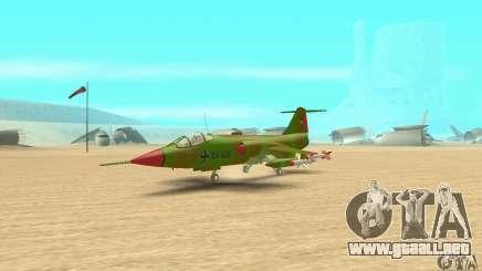 F-104 Starfighter Super (verde) para GTA San Andreas