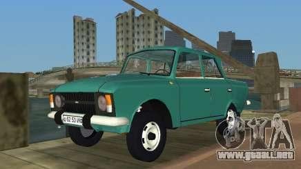 Moskvitch IZH 412 para GTA Vice City