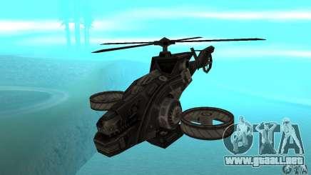 Un helicóptero desde el juego TimeShift Black para GTA San Andreas